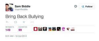 Sam Biddle Bullying