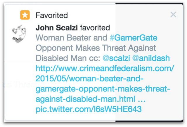 Scalzi screen shot