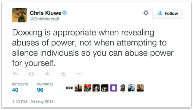 Chris Kluwe GamerGate dox
