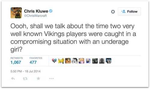 Chris Kluwe underage girls.50 AM
