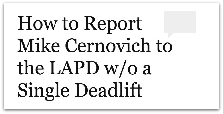 How to SWAT Mike Cernovich .31 PM